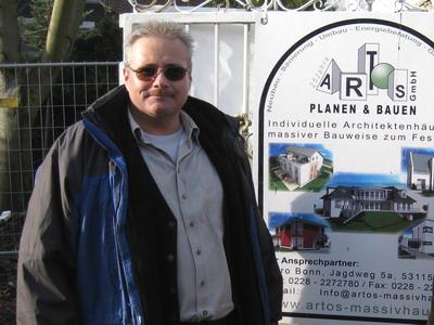 Der Artos Bauleiter Thomas Braun aus Bonn