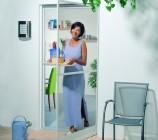 TMP Insektenschutztuer, Die Drehtür ist eine ideale Lösung für Balkon und Terrasse.
