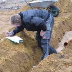 Michael Kempe und die Hausanschluß- und Entwässerungspläne