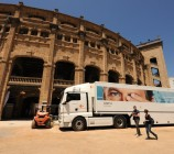 Einer der vielen ZDF Technik - Trucks, die von Mainz nach Mallorca gekommen sind.