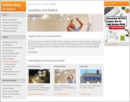 OBI Ratgeber und Tipps rund um Leuchten und Elektro