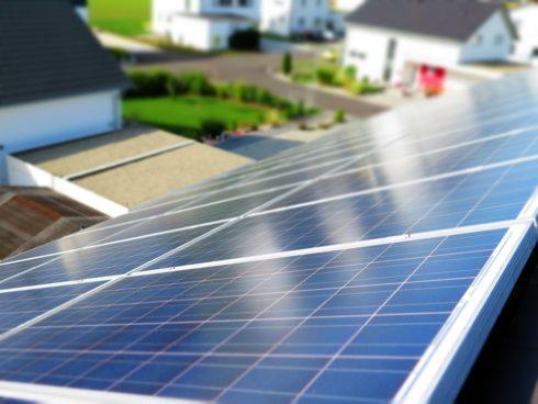 Beispiel eines Solarmoduls auf dem Dach