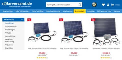 Photovoltaik und Solarversand