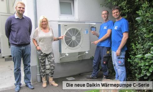 André Gordon von Daikin, Bauherrin Anke und das Team von Climaconnect