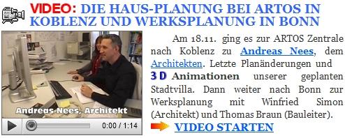 Videobautagebuch der Villa Marienborn. Die Architektenplanung bei ARTOS HAUS.