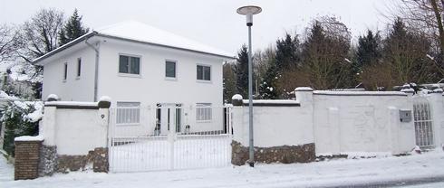 Unsere Stadtvilla im Winter 2010
